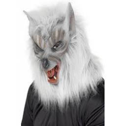 Adults Gray Were Wolf Full Mask Halloween Animal