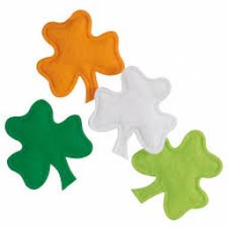 St Patricks Felt Shamrock Confetti 20pcs