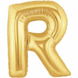 Metallic Gold Letter R Balloon 40inch