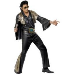 Elvis Black and Gold Costume with Shirt & Trousers