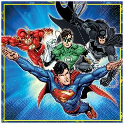 Justice League Luncheon Napkins 22cm 2ply 16pcs
