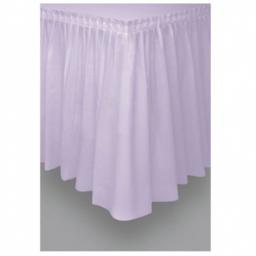 Plastic Lavender Table Skirt 73cm x 426cm