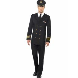 Navy Officer With Jacket Trousers Mock Shirt Hat