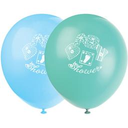 12in Blue Stitching Baby Shower Balloons 8pcs