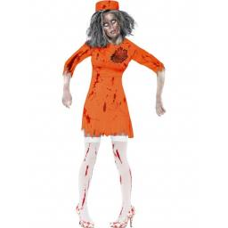 Zombie Death Row Diva Orange with Dress and Hat