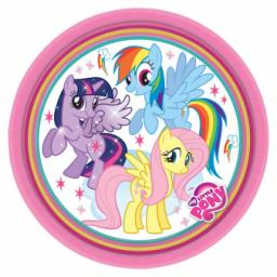 My Little Pony Rainbow Paper Party Plates 7 inch 8pcs