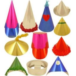 Mini Astd Paper Party Hats BX 72 pcs