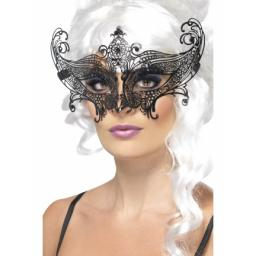 Farfalla Metal Filigree Eyemask, Black