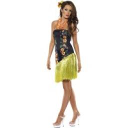 Luscious Luau Dress with Lei Neckpiece