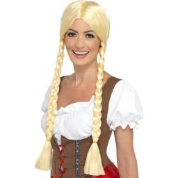 Bavarian Beauty Wig Plaited Blonde Long