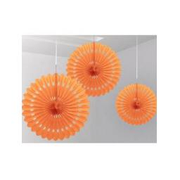 Decorative Fan 16 inch Orange 1pc