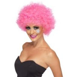 Funky Afro / Crazy Clown Wig Pink