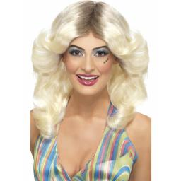 Flick Wig Blond with Roots Wavy Layered