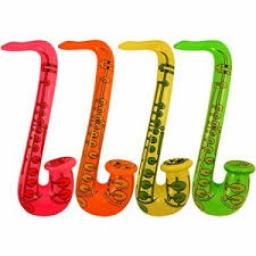 Assorted Inflatable Saxophone ñ 30 Inches / 76cm