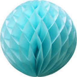 Honeycomb Ball Paper Decoration 8 inch Light Blue