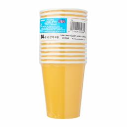 14 Sunflower Yellow Party Paper Cups 9oz