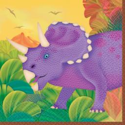 Prehistoric Party Beverage Napkins 2ply 16ct 9.3/4 inch x 9.3/4 inch