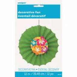 Luau Decorative Fan