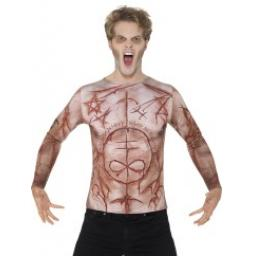Mutilated Skin T-Shirt Flesh & Sublimation Print-Large Size