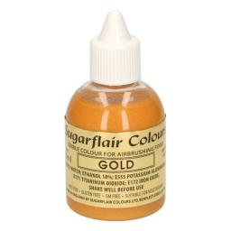 Sugarflair Colours Gold Glitter - Edible Glitter Airbrush Liquid 60ml
