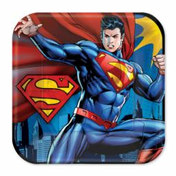 Superman Square Paper Plates 23cm 8pcs