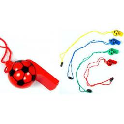 6 cm Plastic Soccer Whistle 3 For £1 assorted Colours Party Bag Filler