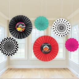 50s Classic Paper Fan Decoration Set