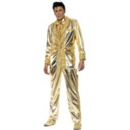 Elvis Costume gold Jacket Shirt front & trousers