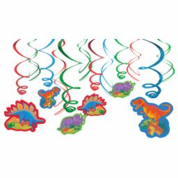 Prehistoric Party Swirls Decorations 12pcs