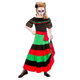 Day of The Dead Senorita Kids Outfit