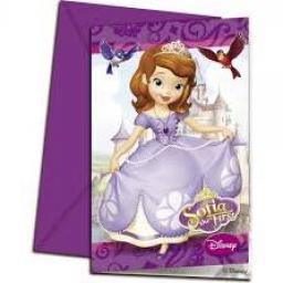 Sofia The First 6 Party Invitations