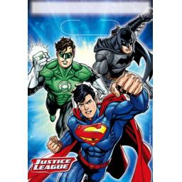 Justice League Folded Loot Bags 8pcs