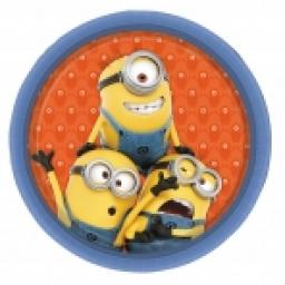Minions Paper Party Plates 8- 9inch