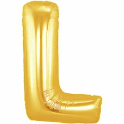 Metallic Gold Letter L Balloon 40inch