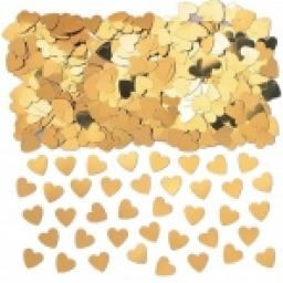 Sparkle Hearts Gold Metallic Confetti 14g