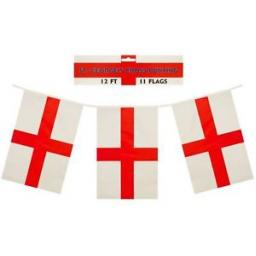 St Georges Cross Bunting 12Ft 11Flags