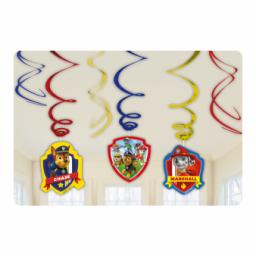 Paw Patrol Hanging Swirls Decorations 6pcs