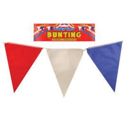 7m 25 Flags Red White Blue Pennant Bunting