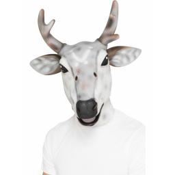 Reindeer Latex Mask with Antlers