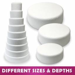Round Bevelled Cake Dummy - 16x 3 inch tall