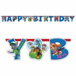Paw Petrol Happy Birthday Letter Banner 1.80m