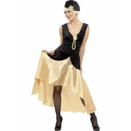 1920s Gatsby Girl Dress & Hat Medium