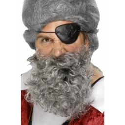 Pirate Beard Deluxe Grey