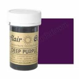 Sugarflair Deep Purple Paste Colour 25g