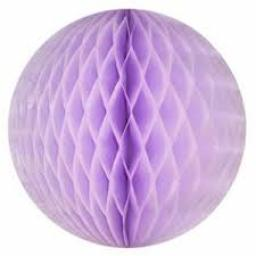 Honeycomb Ball Paper Decoration 8 inch Lilac