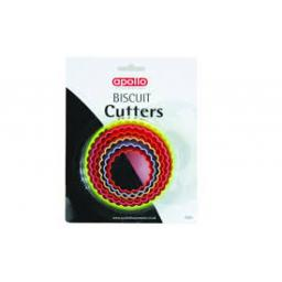 Apollo Biscuit Cutterss 6 sizes 2 shapes