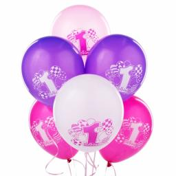 1st Birthday Latex Asstd Colour Balloons 8ct 12inc