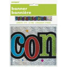 Foil Banner Congratulations 9Ft Long