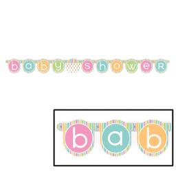Pastel Baby Shower Jointed Letter Banner 1.32m