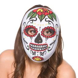 Day Of The Dead Ladies Full Halloween Face Mask